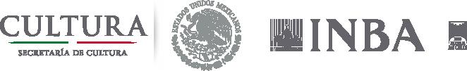Logos: Secretaria de Gobierno, Instituto Nacional de Bellas Artes, Museo de San Carlos